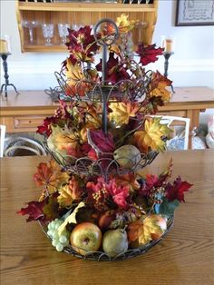 Decorating Tiered Stands For Autumn Ideas