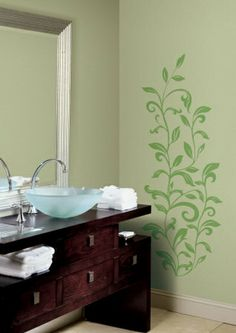 Leaf Scroll Floral and Botanical Wall Decals