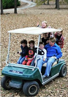 Grandchildren, grand nieces and nephews....out for a ride on Thanksgiving