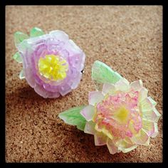 #handmade #flower #brooch #accessory #プラ板 by NanaAkua