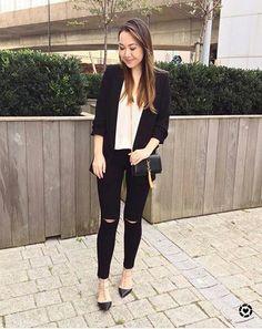 39e769c471d6 Other Outfits, Business Casual, Fall Hair, Monochrome, Black Jeans, Saint  Laurent