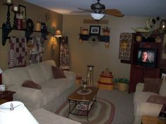 Our Country Primitive Home - Living Room Designs - Decorating Ideas - HGTV Rate My Space