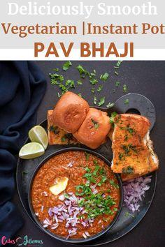 Vegetarian Recipes Easy, Lunch Recipes, Indian Food Recipes, Breakfast Recipes, Dinner Recipes, Yummy Recipes, Pav Bhaji Recipe Video, Kitchen Recipes, Cooking Recipes