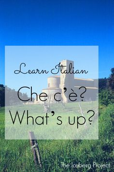 ~Learn Italian: Che c'è? - What's up?~