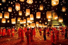 """Loy Krathong"", el festival de luces en Tailandia"