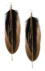 Feathered Earrings by Sweet Evie $29