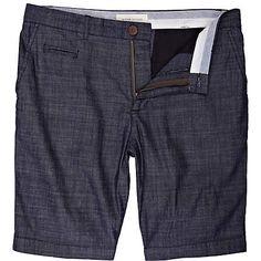 blue chambray denim shorts - smart shorts - shorts - men - River Island