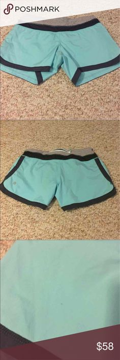 Lululemon Sz 4 Shorts VGUC Lululemon Size 4 shorts. Minor flaw is third picture, otherwise perfect!! Selling for $45 on Merc Arynaf   Please take a look at my other listings, so much Lululemon! happy to bundle! lululemon athletica Shorts