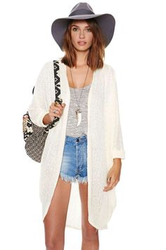 Comfort Zone Cardi - Cream | Shop Tops at Nasty Gal