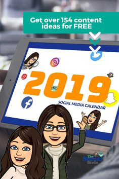 Do you sometimes find planning content a struggle? We've got 154 content ideas to help you with your Social Media Plan for 2019, and it's FREE! #smm #freedownload #contentcalendar
