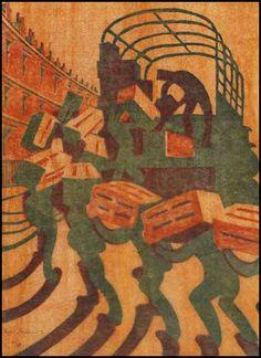 Oranges by Sybil Andrews Sybil Andrews, Linoleum Block Printing, Art Deco Illustration, Fine Art Auctions, Lino Cuts, Etchings, Linocut Prints, Woodblock Print, Art Techniques