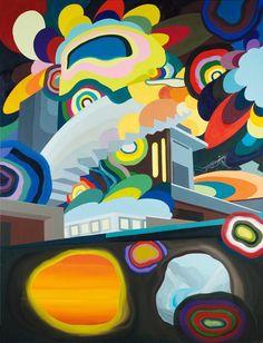 Franz Ackermann (German, b. 1963), The Secret Tunnel, 1999. Oil on canvas, 260 x 200 cm.