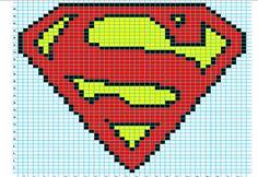 Superman Logo Chart pattern by Elizabeth Thomas
