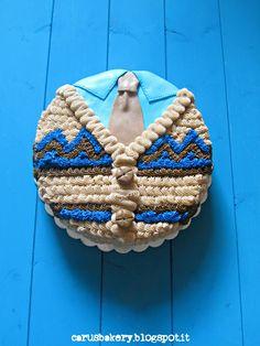 Caru's Bakery: Torta Cardigan - Auguri Nonno