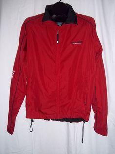 Polo Sport Ralph Lauren Red Black White Nylon Zip Windbreaker Jacket Size: M #PoloRalphLauren #Windbreaker