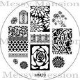"Amazon.com : MESSY MANSION MM20 Nail Art Stamping Plate - ""In the garden"" : Beauty"