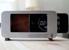 Use your iPhone clock as an innovative display through this incredibly designed CDock Clock.