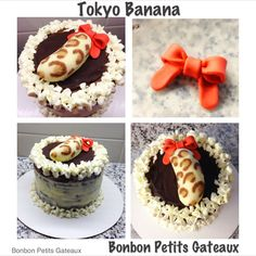So adorable. Buttercream Cake, Tiramisu, Cheesecake, Banana, Cakes, Ethnic Recipes, Desserts, Food, Tailgate Desserts