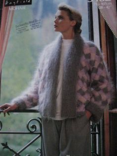 5585c27978cfa hayfield knitting pattern 3182 ladies mohair jacket bust 28 - 42 inch Angora