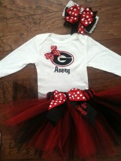SEC Sports GEORGIA Baby or Toddler Onesie and by SewDesignsByLeAnn, $55.00