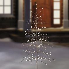 Made of sturdy metal and featuring 256 attention-grabbing LED lights, this simple yet elegant, 6-foot tall decorative tree would make a terrific impression inside or outside your home during the holidays.