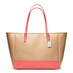 I love, Love, LOVE! I want, I need~ The Medium City Tote In Colorblock Saffiano Leather from Coach