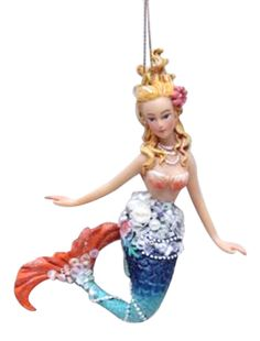 December Diamonds Embellished Mermaid Christmas Ornament for sale online Crafts For 3 Year Olds, Halloween Crafts For Kids, Nautical Christmas, Christmas Holidays, Beach Christmas, Beach Holiday, Xmas, Christmas Tree, Hanging Ornaments