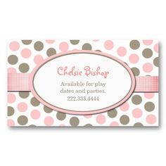 1000 images about polka dot business cards on pinterest for Polka dot business card templates free