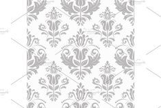Oriental vector pattern with damask, arabesque and floral elements. Blue and white colors Damask Patterns, Arabic Design, Vintage Graphic Design, Arabesque, Vector Pattern, Abstract Backgrounds, Oriental, Blue And White, Tapestry