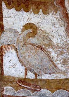 Eglise de Vic - là l'aigle, symbole de St Jean.