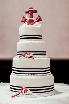 nautical wedding -our wedding cake