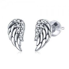 Wholesale Silver Jewelry, Wings Design, Ear Studs, Sterling Silver Jewelry, Wedding Rings, Engagement Rings, Floral, Enagement Rings, Jacket Earrings