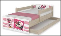 Disney children's bed Minnie Ups – Kiddymill Minnie Mouse Bedding, Magical Room, Childrens Desk, Mattress Frame, Bed With Drawers, How To Make Bed, Kid Beds, Cot, Kids Bedroom