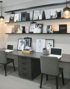 48 Wonderful Small Office Design Ideas – Modern Home Office Design Small Office Design, Corporate Office Design, Office Interior Design, Office Interiors, Office Designs, Home Office Space, Guest Room Office, Home Office Decor, Home Decor