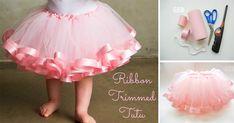 Kreatívny DIY nápad s návodom urob si sam na nariasenú rozkošnú detskú tutu sukničku s lemom pre malé parádnice. Handmade detská tutu suknička