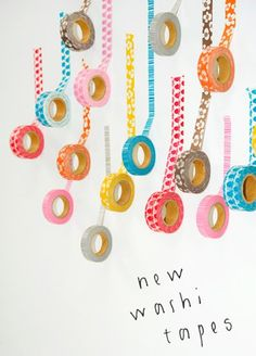 New lotta jandotter washi tapes have just been launched. i loved the eyecatching way the japanese masking tapes had been photographed for the newsletter.