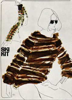 Mouchy -- illustration for Vogue. From Gebrauchsgraphik No. 2, 1966. Simple....yet sexy as hell...
