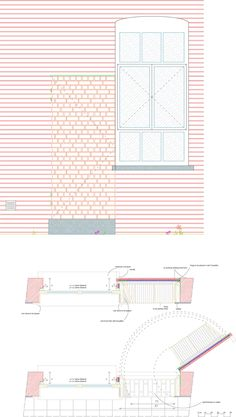 Fuente: Europaconcorsi, De Vylder Vinck TaillieuFotografía: Filip DujardinRenovation in two movements.Movement one, the house.Movement two, the atelier. Architecture Drawings, Contemporary Architecture, Architecture Design, Facade, Presentation, House Design, Inspiration, Architectural Models, Detail
