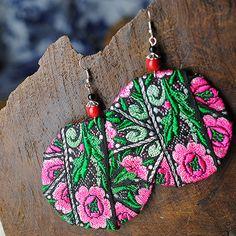 2015 nuove donne orecchino matrimonio regalo di compleanno di gioielli speciale di disegno del cerchio albero foglia pianta vendita al dettaglio all'ingrosso orecchini di goccia d006