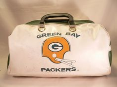 1ef0618ee947 Vintage Green Bay Packers Duffle Bag with 4 SIGNATURES AUTOGRAPHS