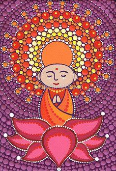 «Jizo Meditating upon a Ruby Lotus» de Elspeth McLean