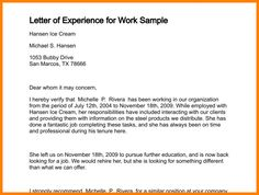 Image result for example of a good experience letter experience certificate format spiritdancerdesigns