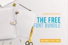 Bezplatný March Font Bundle z TheHungryJPEG   https://detepe.sk/bezplatny-march-font-bundle-thehungryjpeg