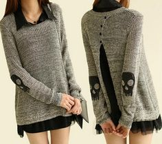Fashion long-sleeved knit sweater #092508AD