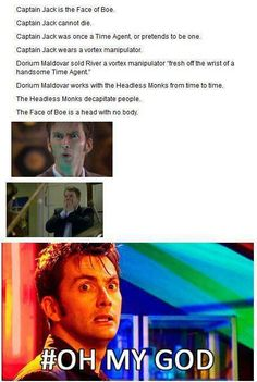 Captain Jack / Face of Boe. MY WHOLE LIFE IS A LIE!!!!
