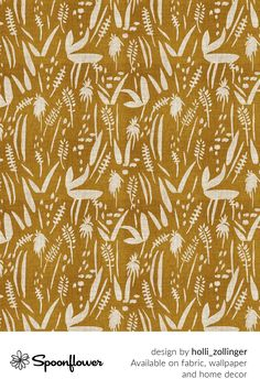 Customize your own home decor, #wallpaper and #fabric at Spoonflower. Shop your favorite indie designs on #fabric, #wallpaper and home decor products on Spoonflower, all printed with #eco-friendly inks and handmade in the United States. #patterndesign #textildesign #pattern #digitalprinting #homedecor #mustard #boho Fabric Wallpaper, Floral Designs, All Print, Watercolor Flowers, Custom Fabric, Spoonflower, Diy Wedding, Mustard, Pattern Design