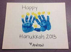 Hanukkah menorah toddler art.    -Repinned by Totetude.com