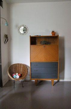 Meuble secr taire vintage r nov et relook octave for Mobilia anos 60