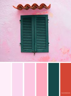 Pink and emerald color scheme ,color scheme ,color palette - Looking for color inspiration? At fab mood you will find 1000s of beautiful color palette, color palette inspired by nature,landscape ,food