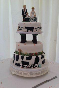 Personalised Cow Wedding Cake